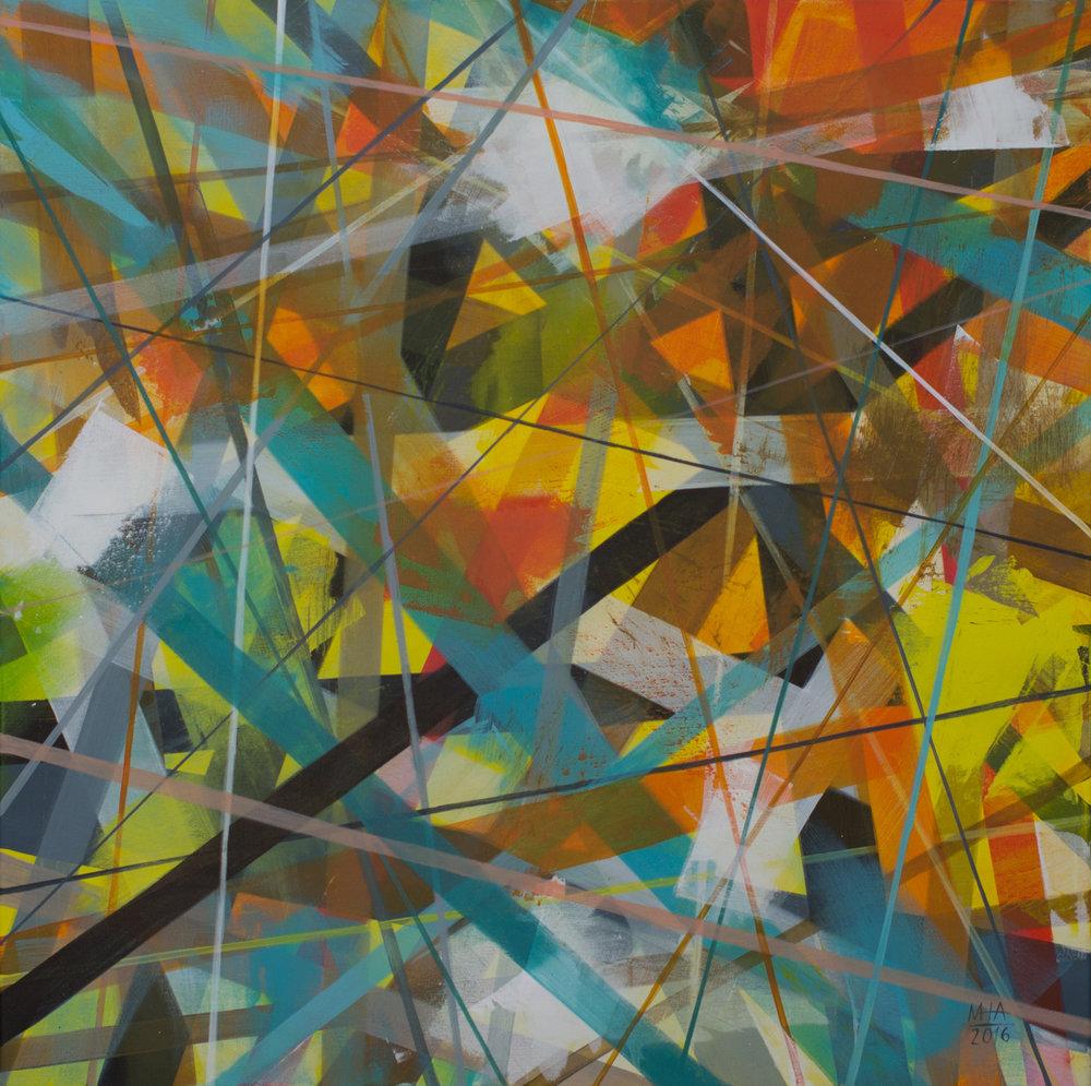 Neue Linien 23 , 2016,Acryl auf Leinwand, 80x80 cm