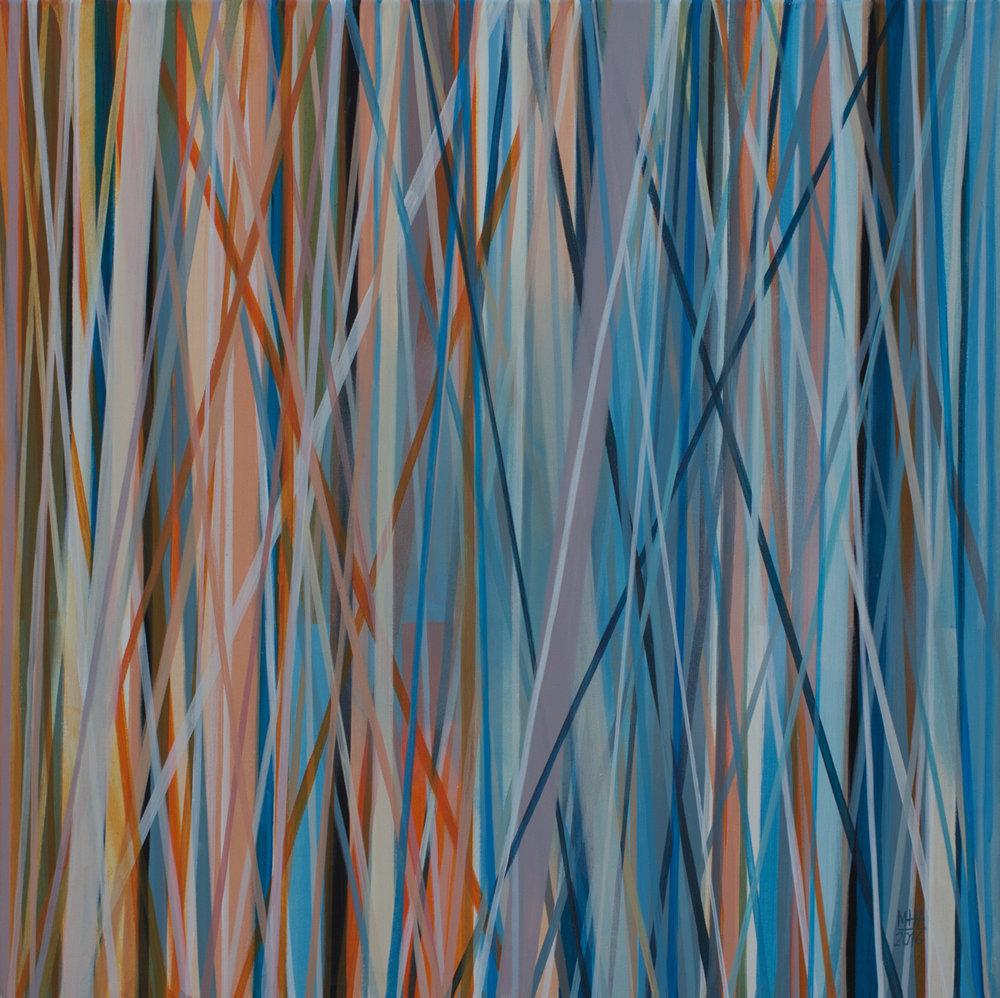Neue Linien 17 , 2016,Acryl auf Leinwand, 60x60 cm