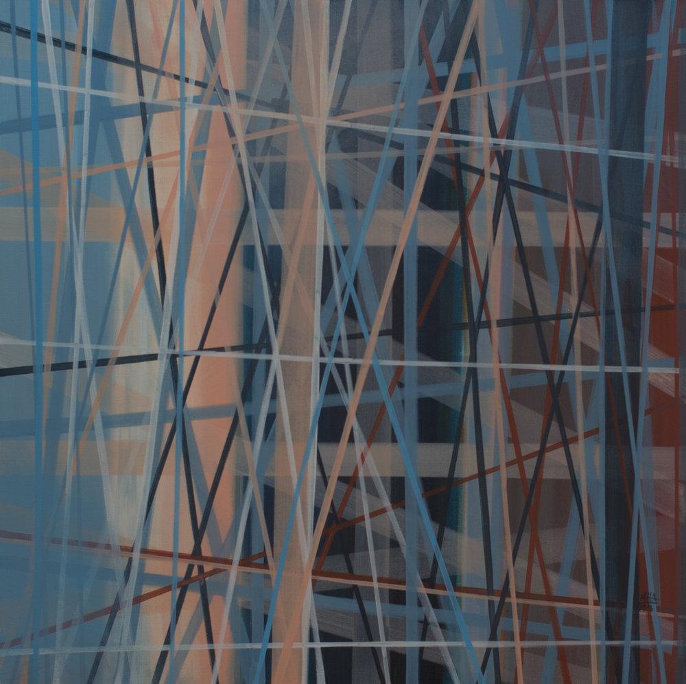 Neue Linien 19 , 2016,Acryl auf Leinwand, 60x60 cm