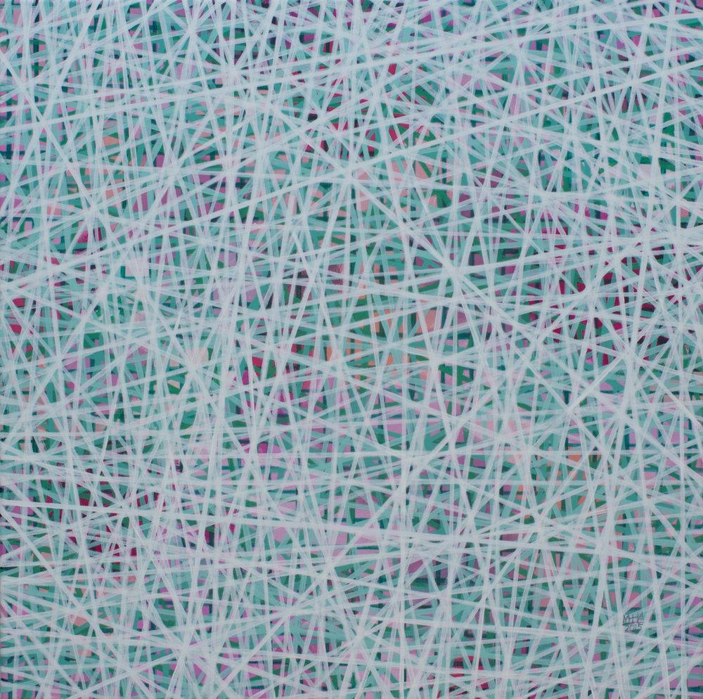Neue Linien 5 , 2015,Acryl auf Leinwand, 60x60 cm