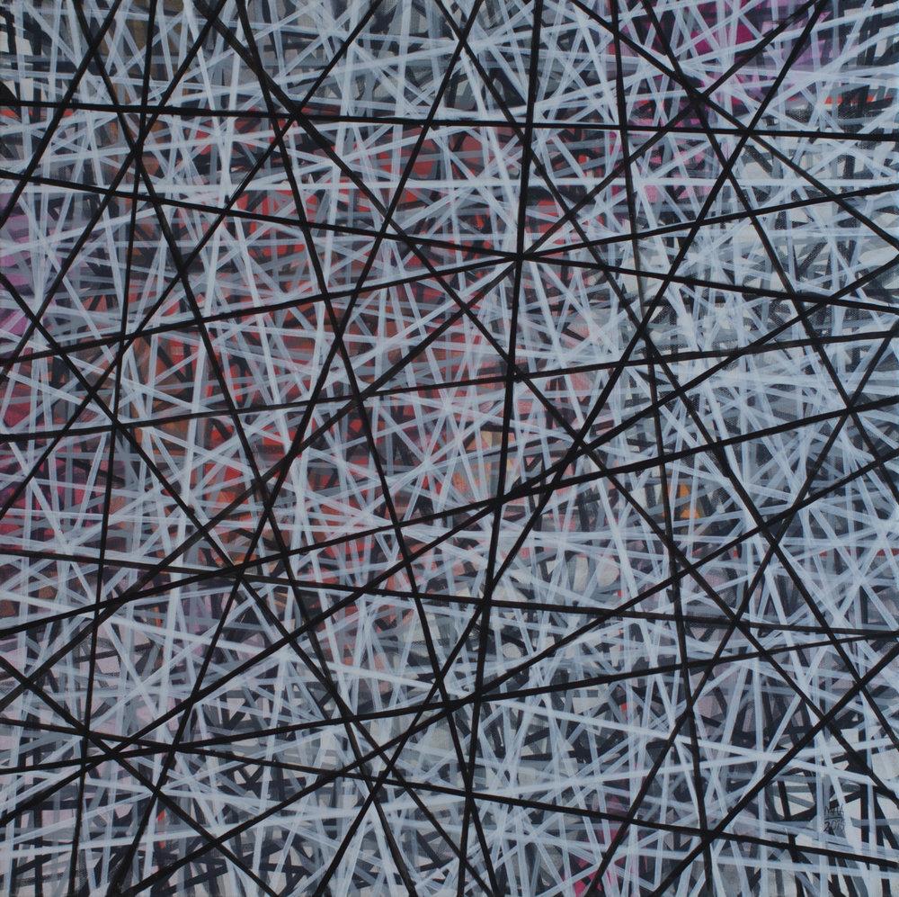 Neue Linien 10 , 2015,Acryl auf Leinwand, 60x60 cm