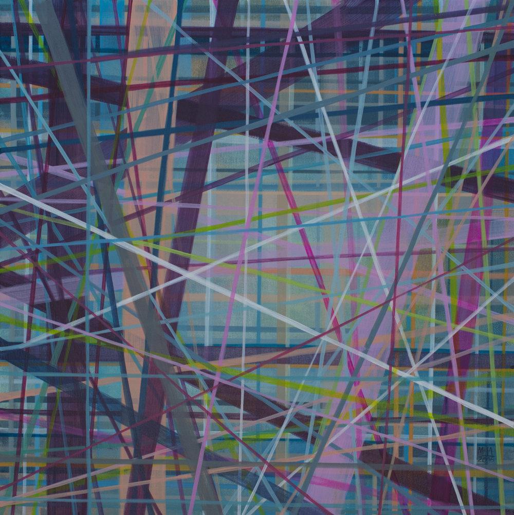 Neue Linien 20 , 2016,Acryl auf Leinwand, 60x60 cm