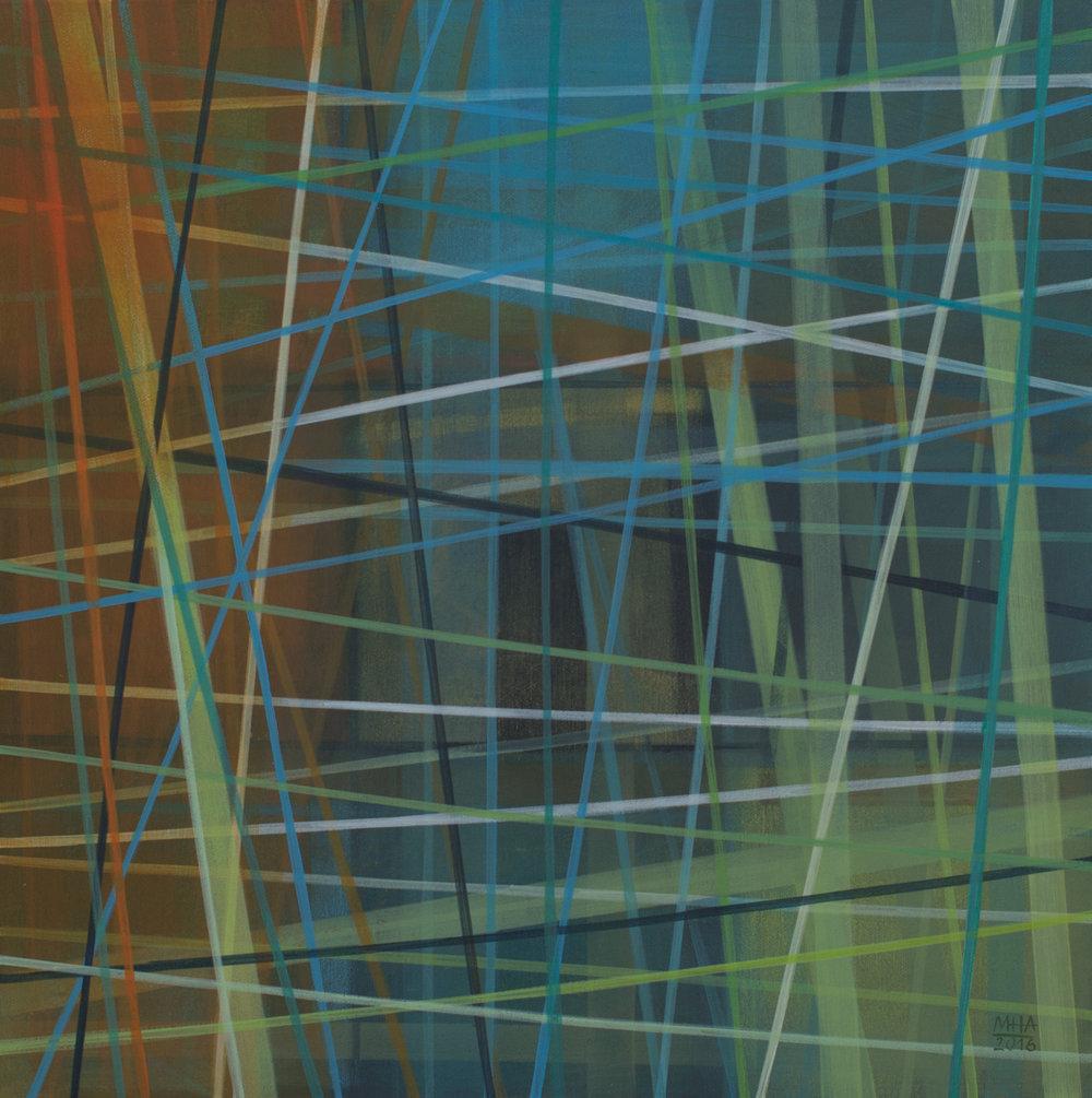 Neue Linien 18 , 2016,Acryl auf Leinwand, 60x60 cm