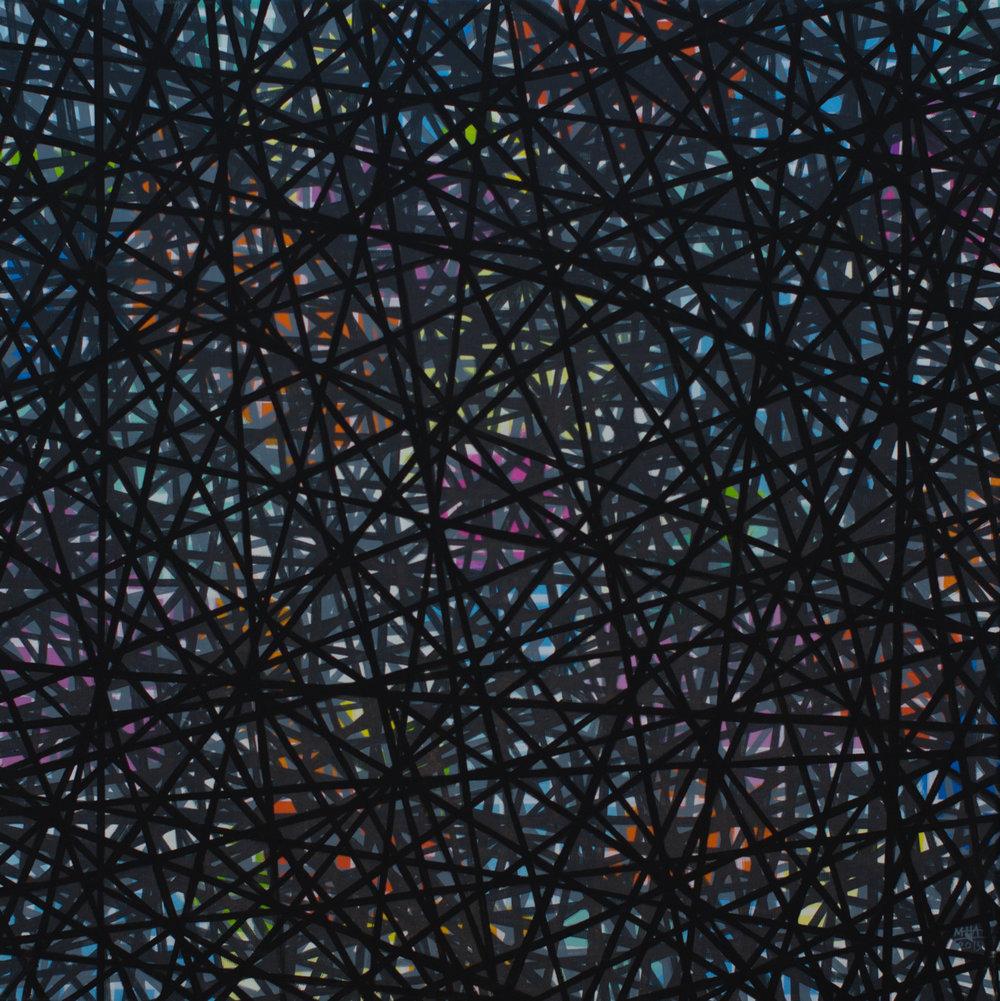 Neue Linien 4 , 2015,Acryl auf Leinwand, 60x60 cm