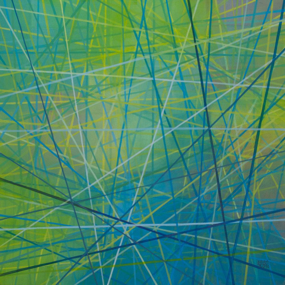 Neue Linien 9 , 2016,Acryl auf Leinwand, 60x60 cm