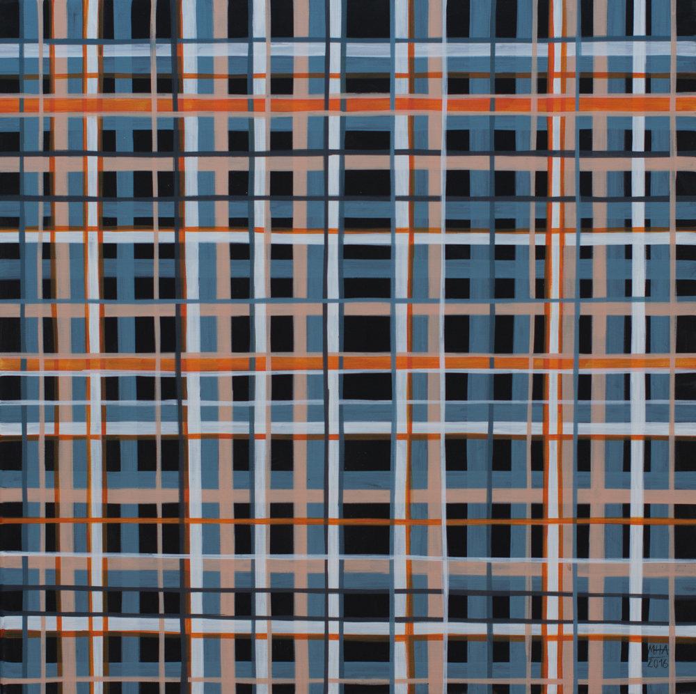 Neue Linien 15 , 2016,Acryl auf Leinwand, 60x60 cm