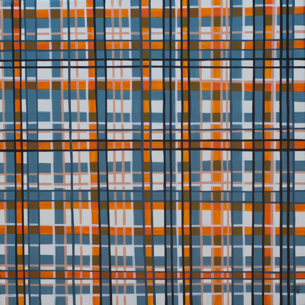 Neue Linien 14 , 2016,Acryl auf Leinwand, 60x60 cm