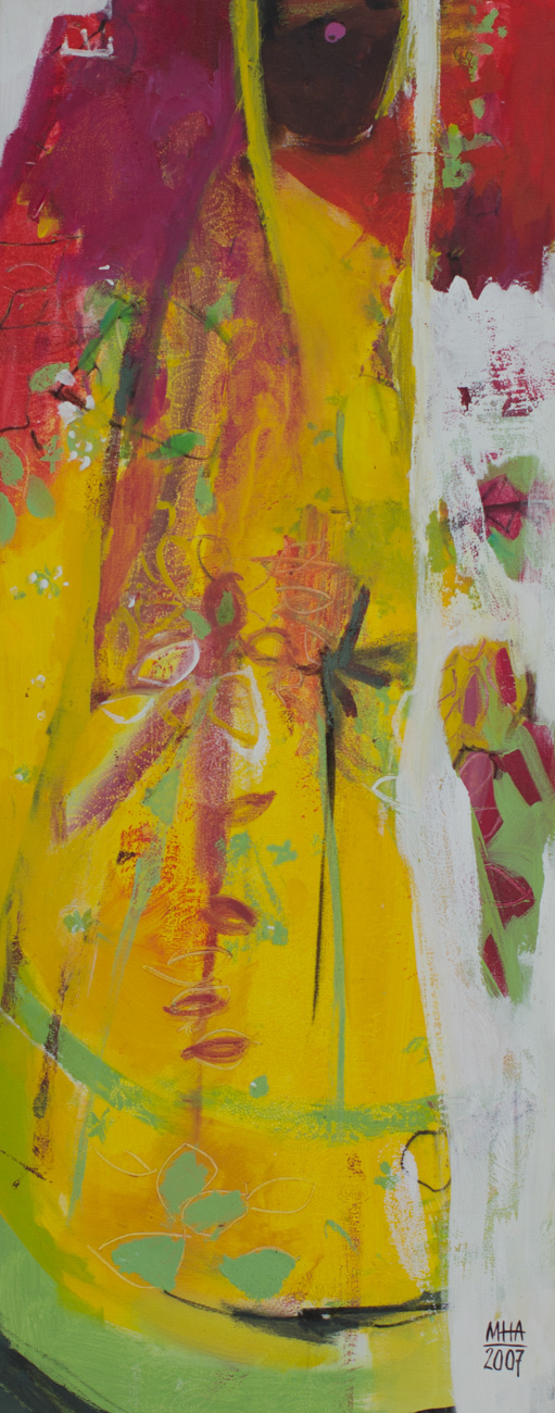 Sari 15 , 2007,Acryl auf Leinwand, 40x100 cm