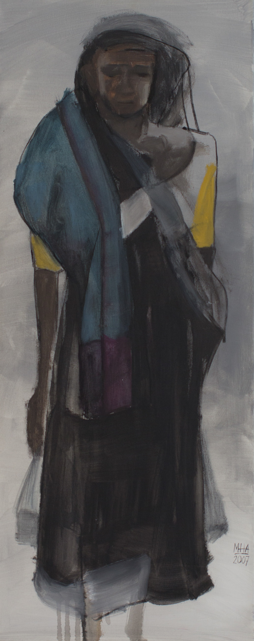 Sari 19 , 2007,Acryl auf Leinwand, 40x100 cm