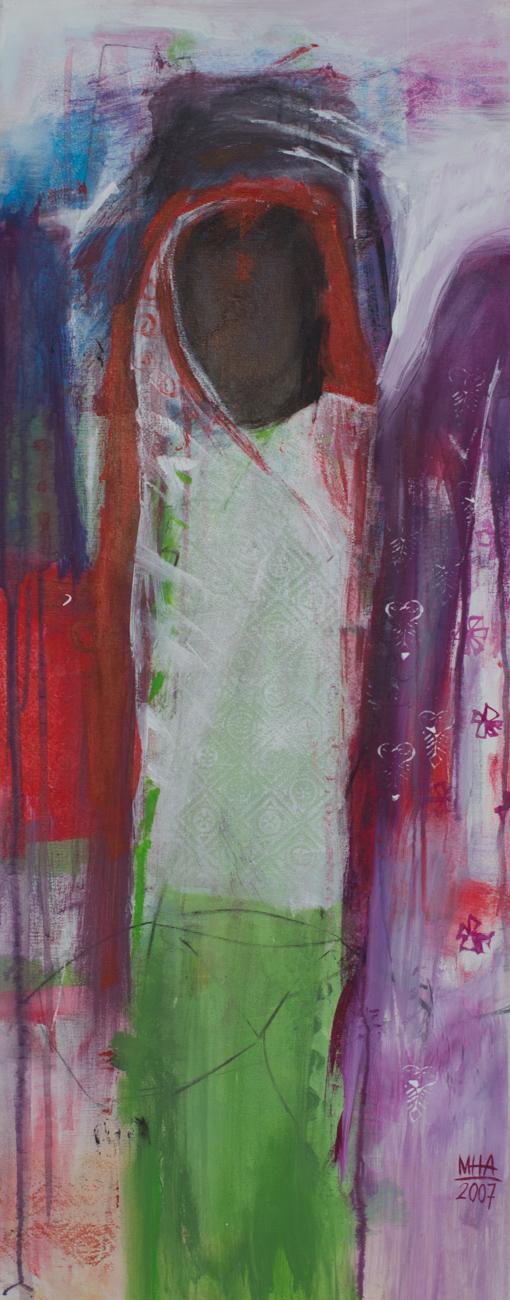 Sari 11 , 2007,Acryl auf Leinwand, 40x100 cm