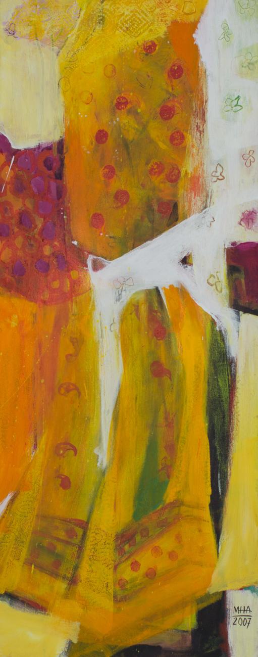 Sari 1 , 2007,Acryl auf Leinwand, 40x100 cm