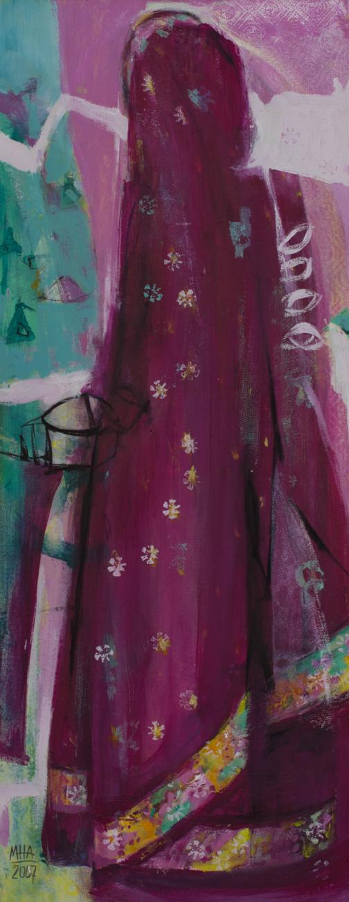 Sari 2 , 2007,Acryl auf Leinwand, 40x100 cm