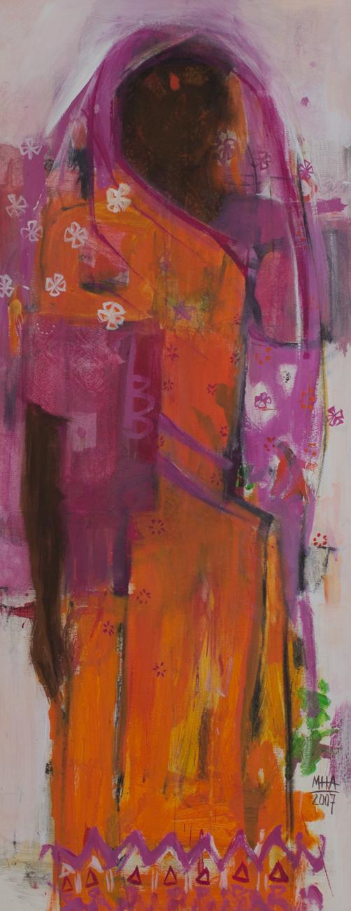 Sari 24 , 2007,Acryl auf Leinwand, 40x100 cm