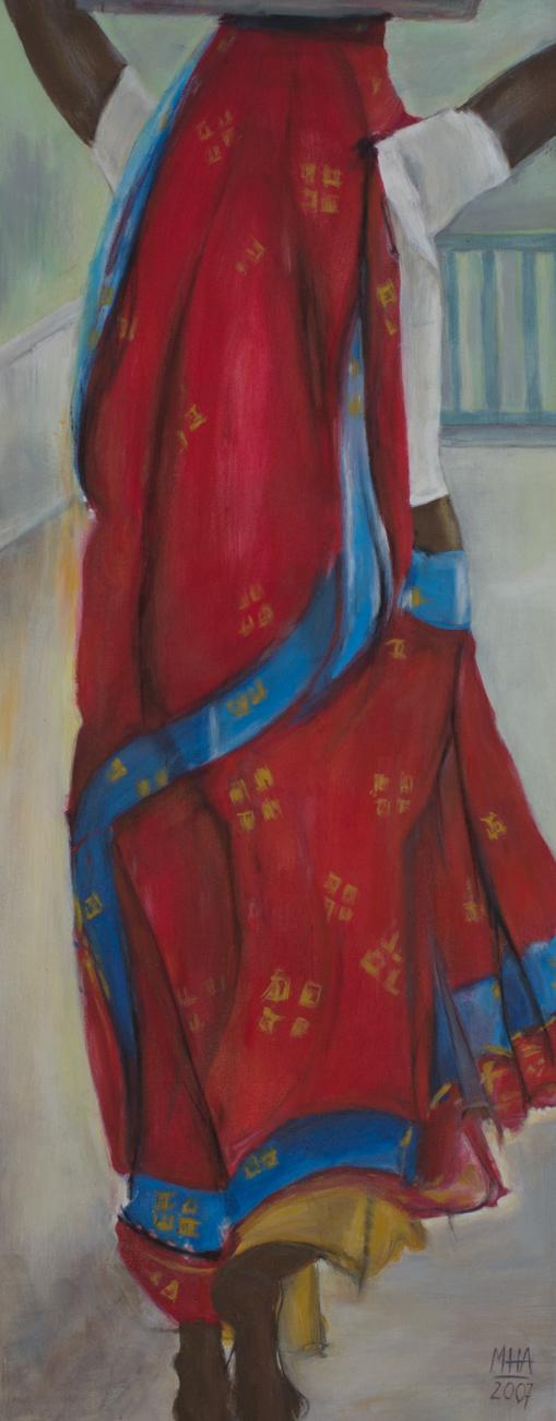 Sari 10 , 2007,Acryl auf Leinwand, 40x100 cm