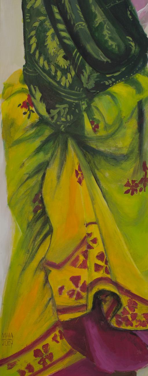 Sari 9 , 2007,Acryl auf Leinwand, 40x100 cm