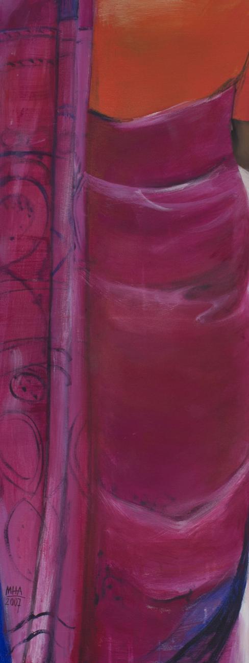 Sari 6 , 2007,Acryl auf Leinwand, 40x100 cm