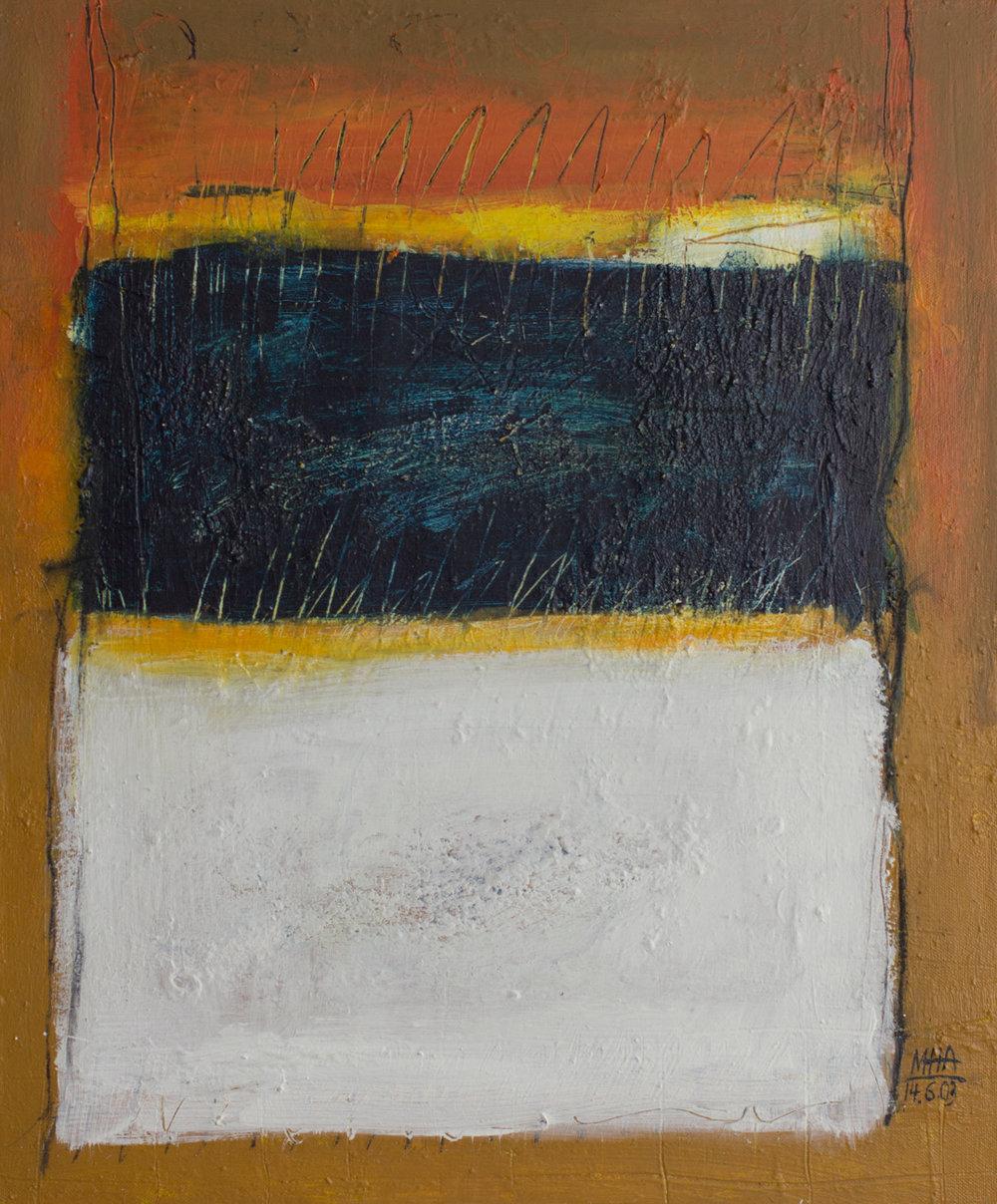 Tapiz 18 , 2002,Acryl auf Leinwand, 50x60 cm