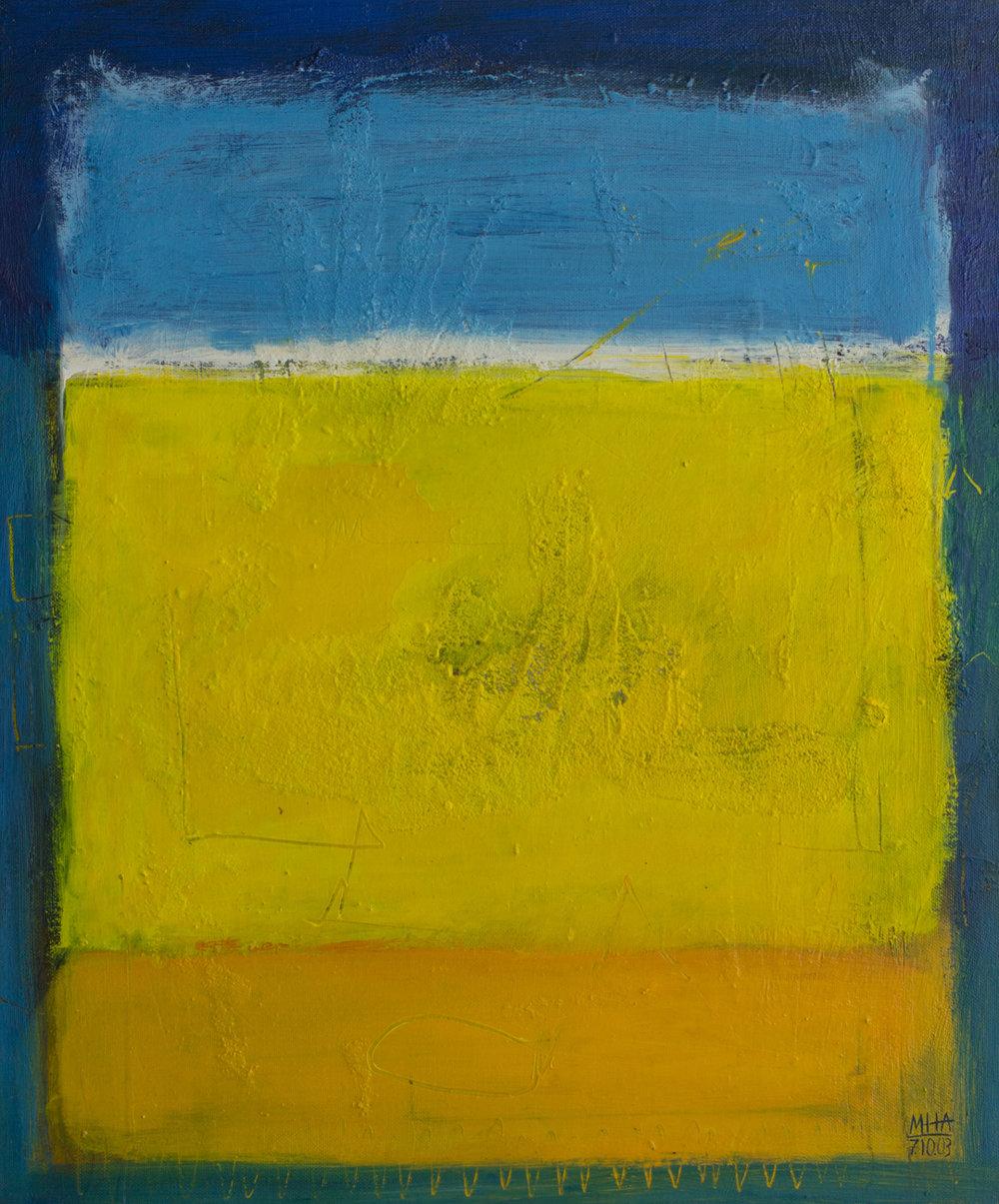 Tapiz 8 , 2002,Acryl auf Leinwand, 50x60 cm