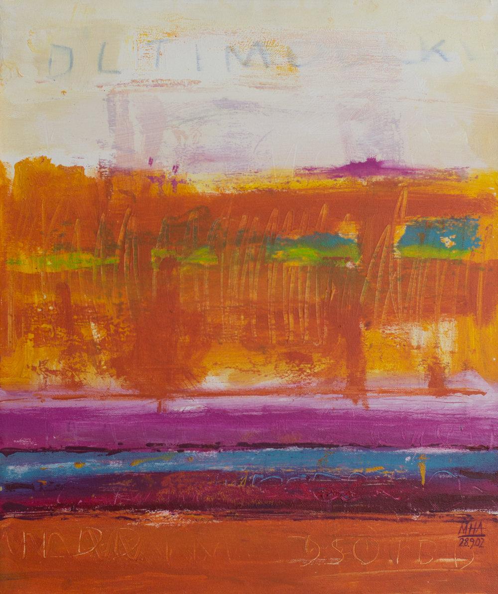 Tapiz 15 , 2002,Acryl auf Leinwand, 50x60 cm