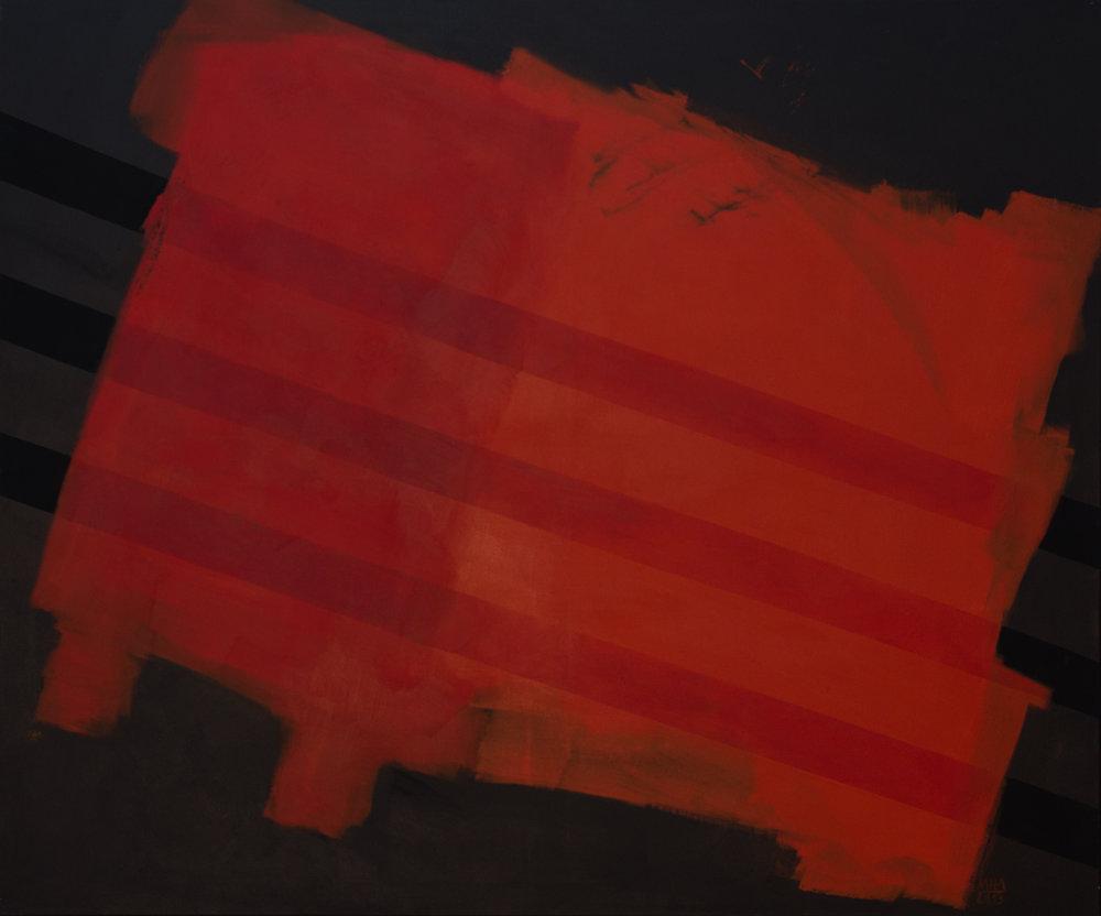rote Wolke , 2013,Acryl auf Leinwand, 100x120 cm