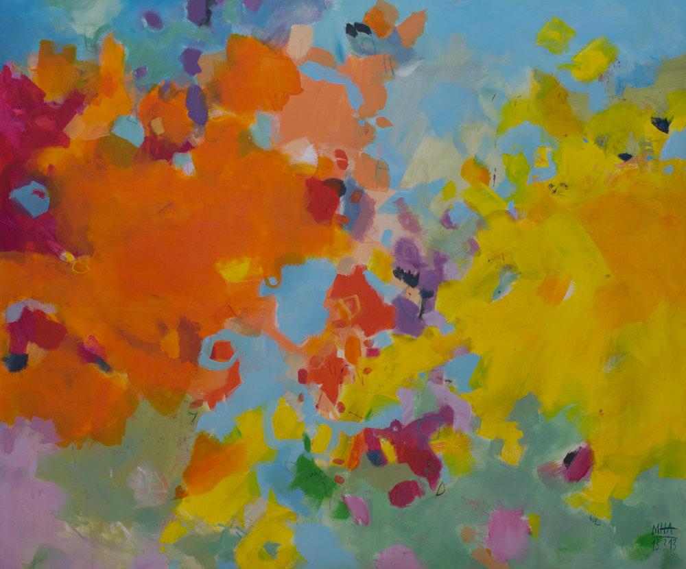 Bunterbunt , 2013,Acryl auf Leinwand, 100x120 cm