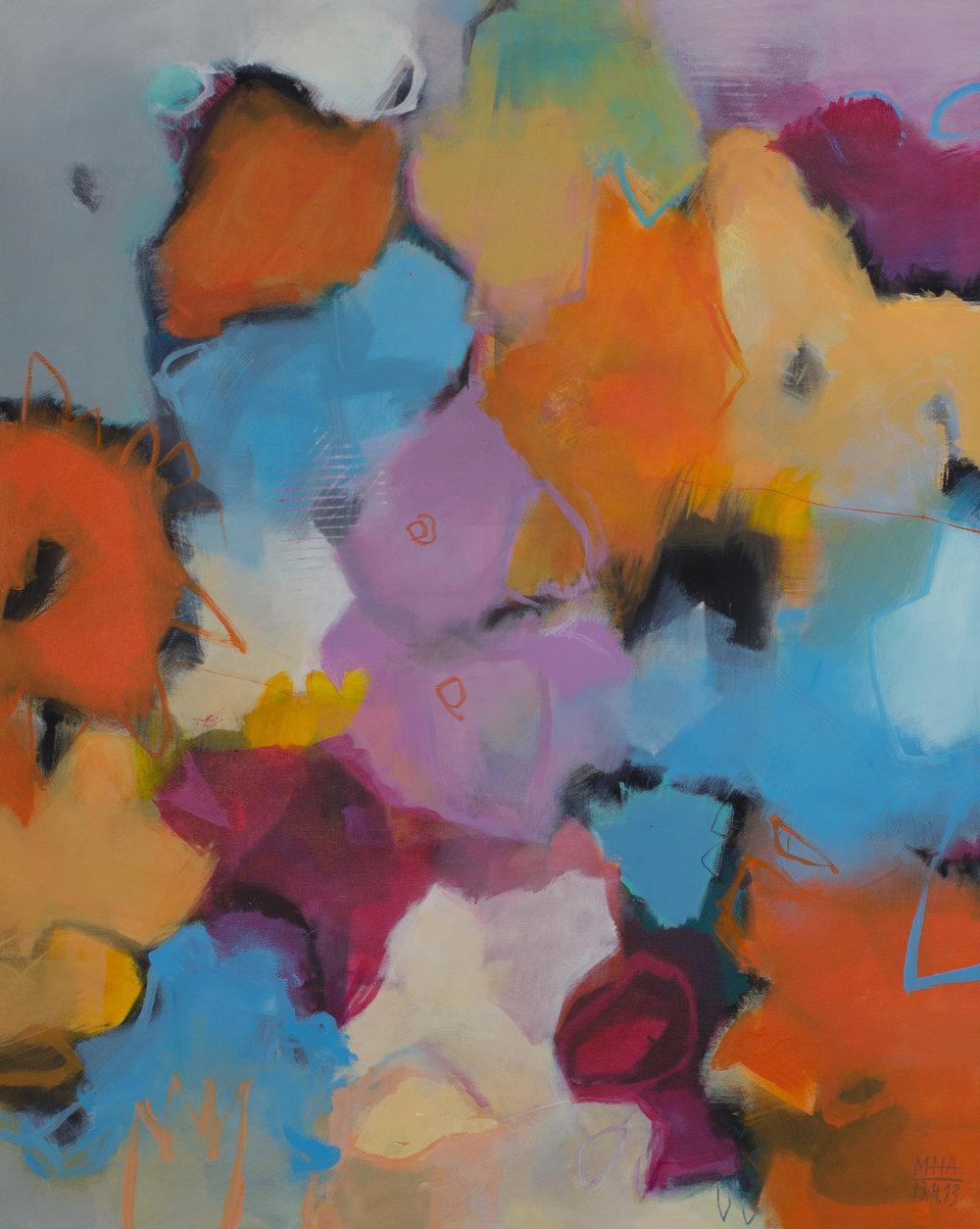 Bunt Nr. 3 , 2013,Acryl auf Leinwand, 80x100 cm