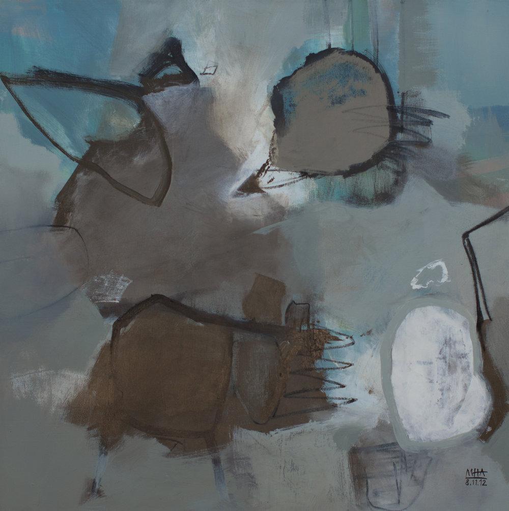 Graue Zeit , 2012,Acryl auf Leinwand, 60x60 cm
