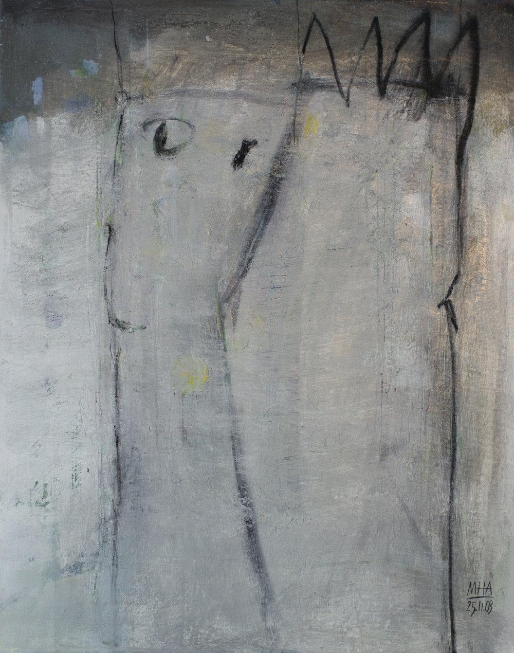 Krönung , 2003,Acryl auf Leinwand - Mischtechnik, 40x50 cm