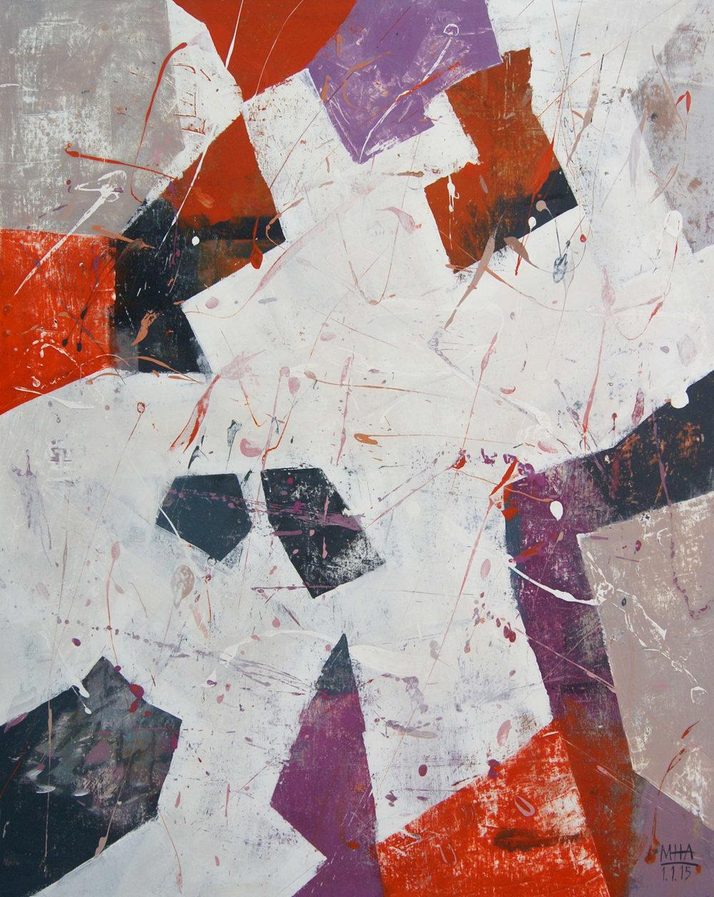 Bruch , 2015,Acryl auf Leinwand, 80x100 cm