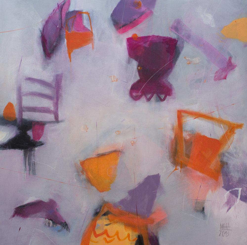 es tanzt , 2013,Acryl auf Leinwand, 80x80 cm