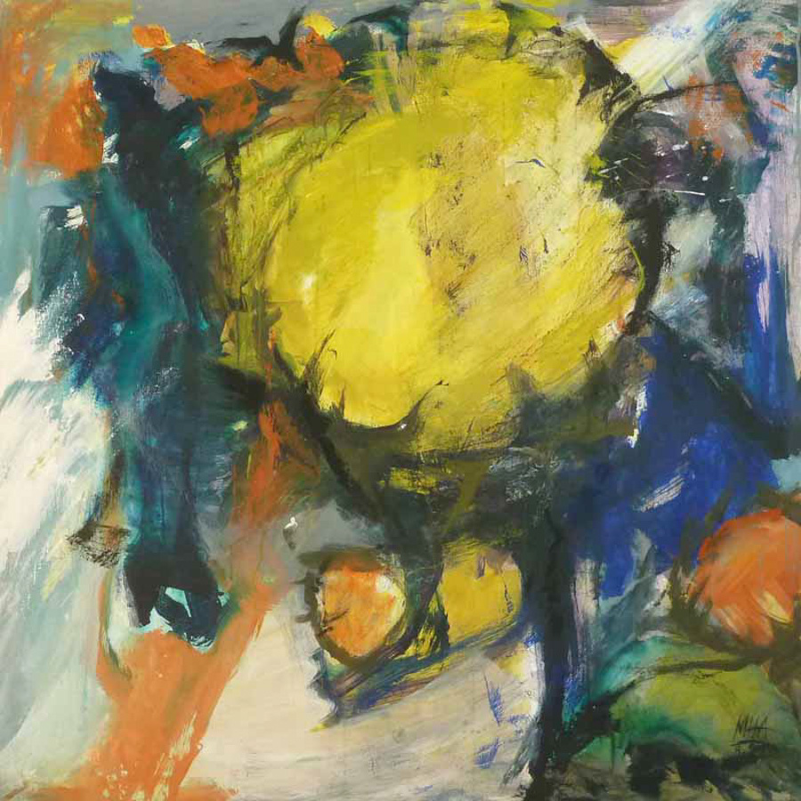 Sonnenblumen 1, 100x100, 1999