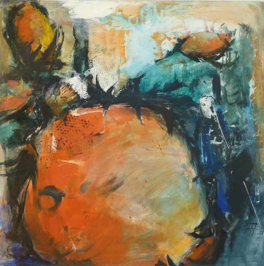 Sonnenblumen 2, 100x100, 1999