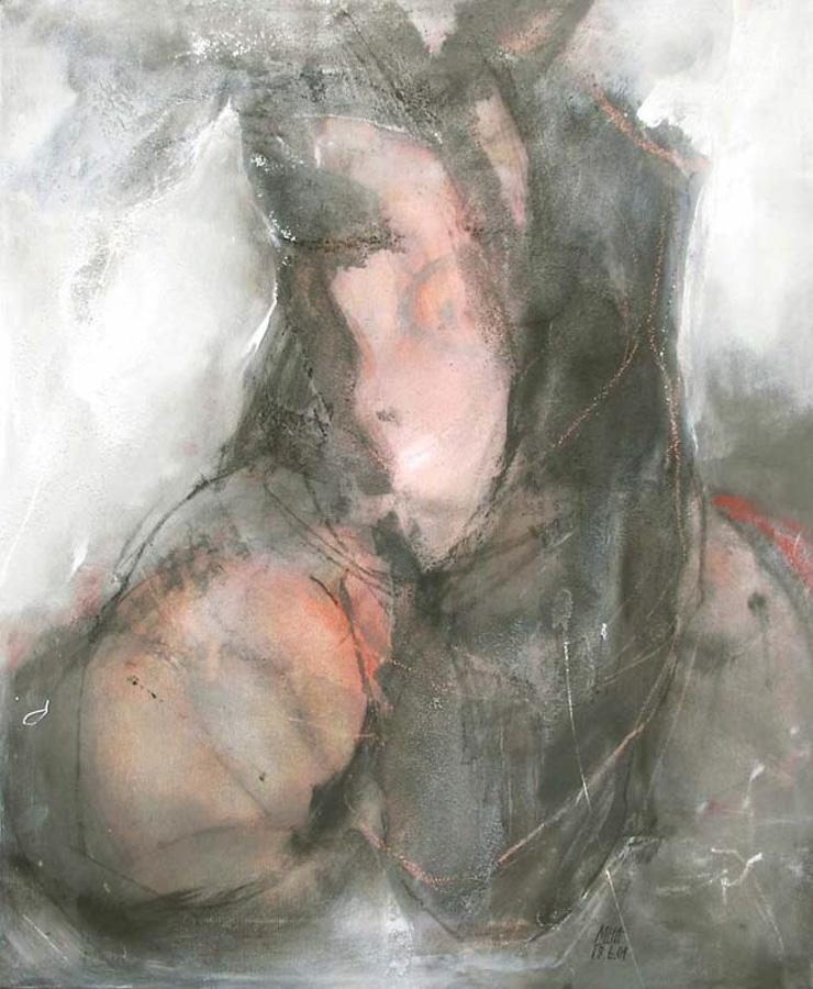 sitzend 1, 50x60, 2001