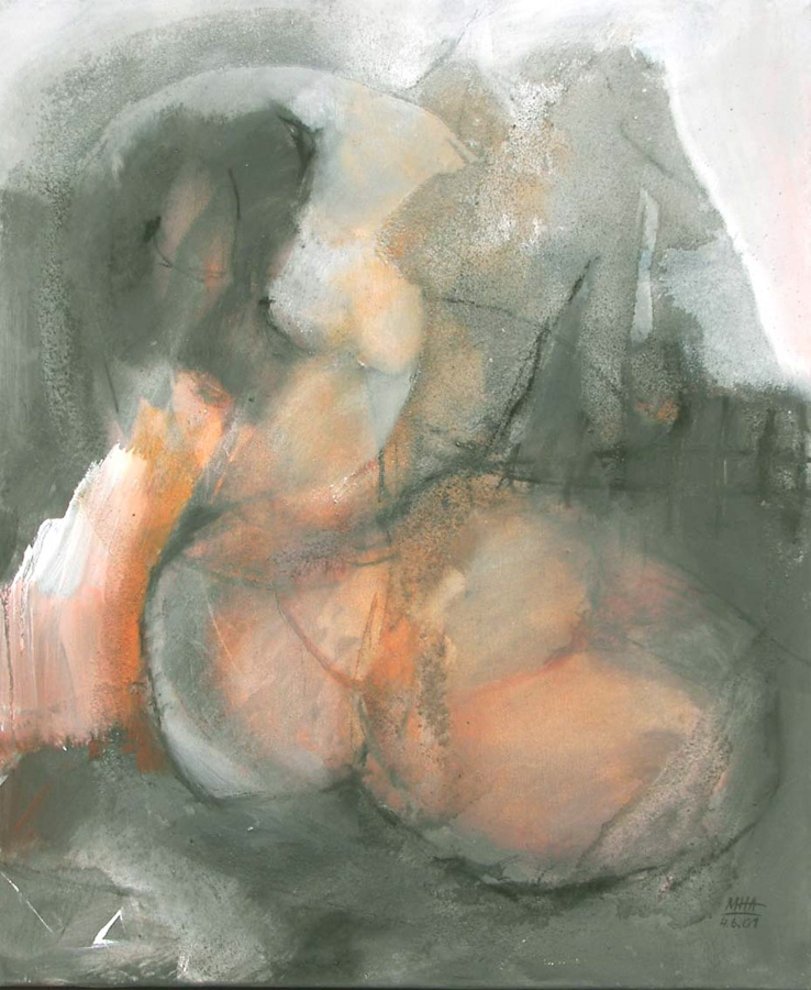 sitzend 2, 50x60, 2001