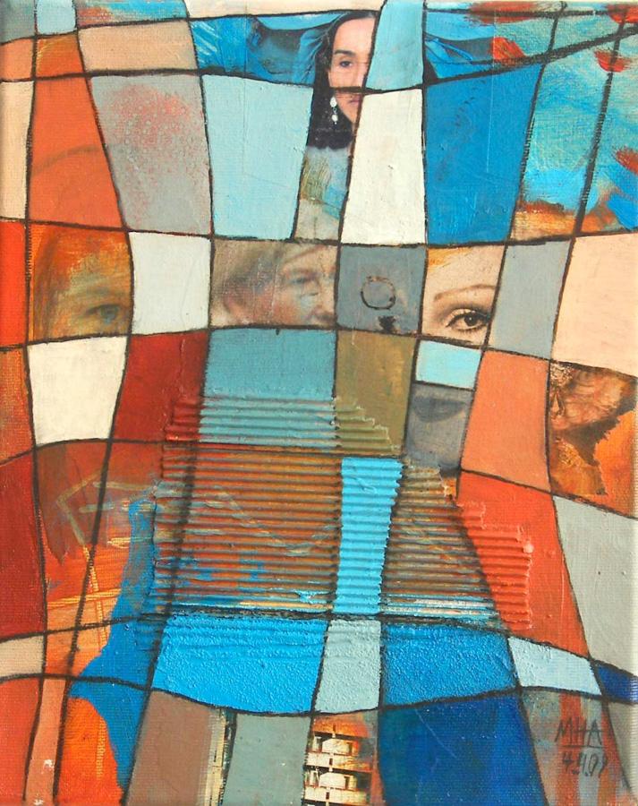 Nr.2 Fantasie in Linien, 24x30, 2009