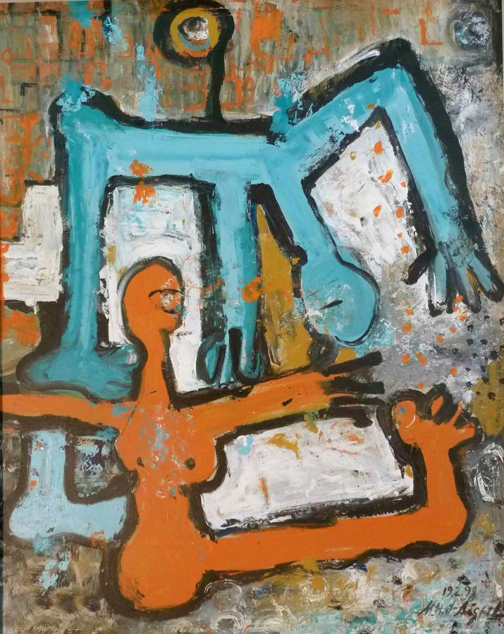 mit Händen und Füßen 1, 81x102, 1998