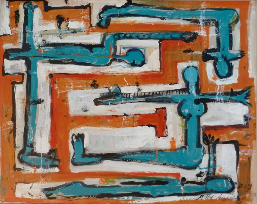 im Labyrinth, 81x102, 1998