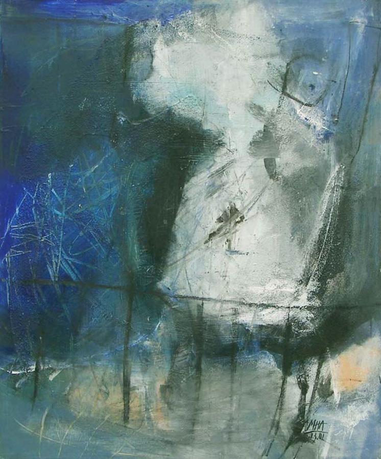 Rückzug, 50x60, 2002