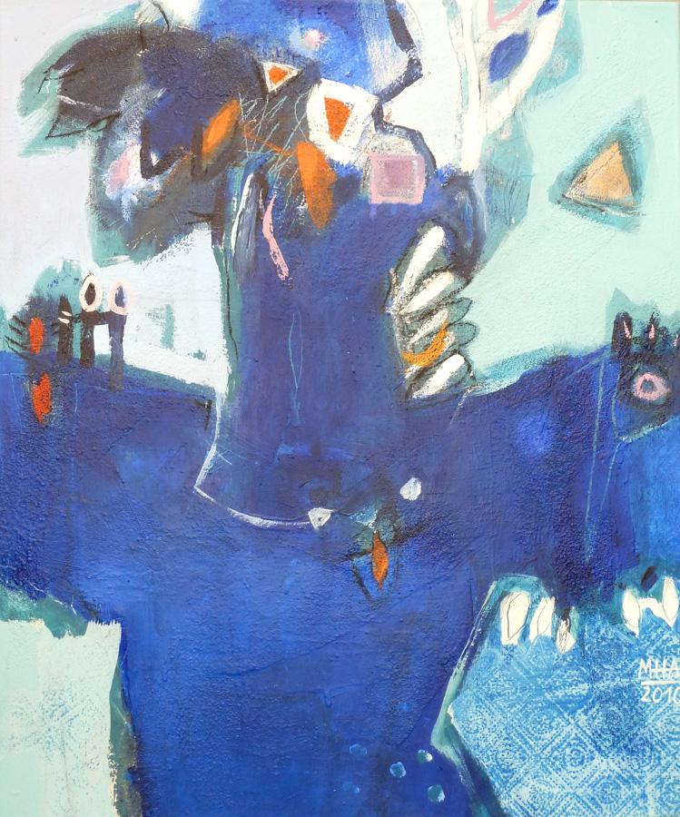 blaue Gestalt, 50x60, 2010