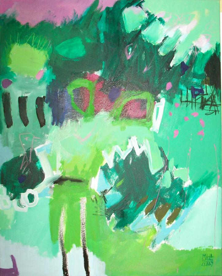 im Grün 1, 80x100, 2009