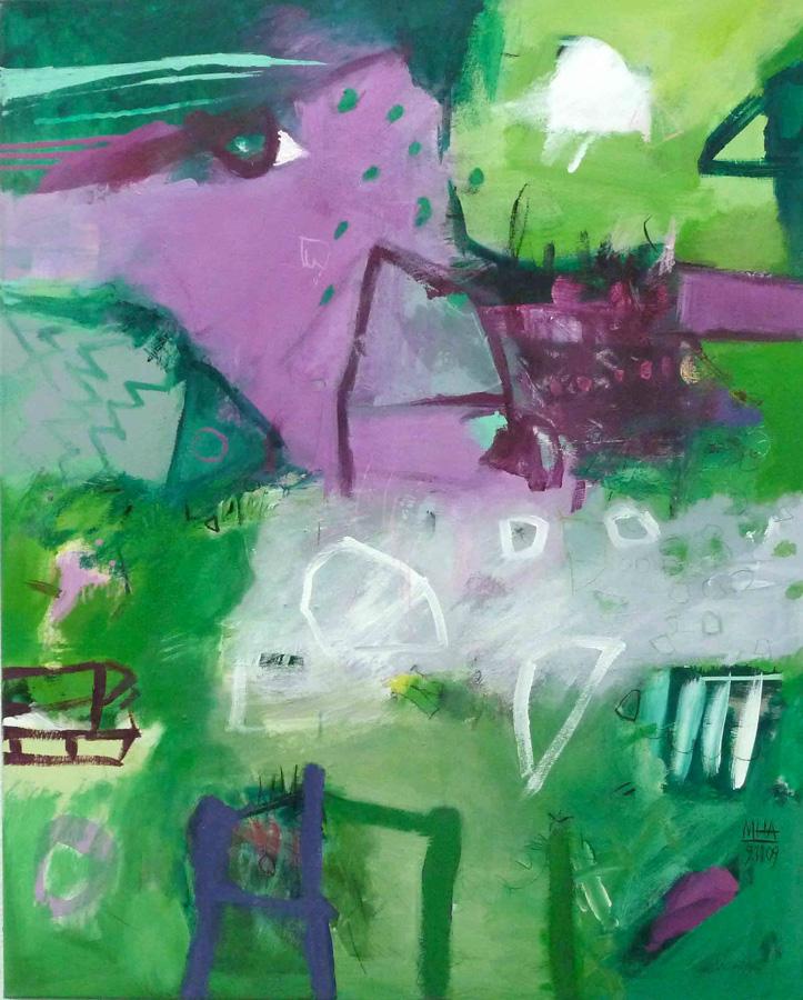 m Grün Nr.3, 80x100, 2009