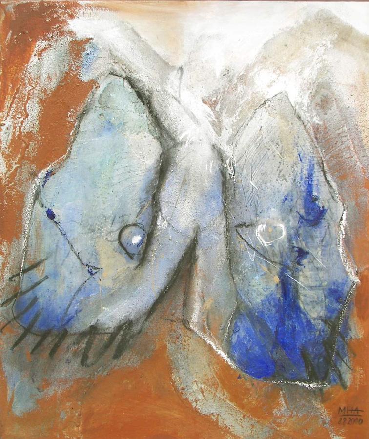 Flügelwesen, 50x60, 2000