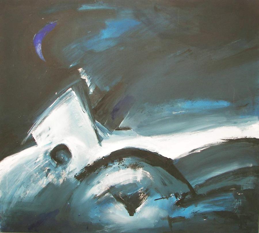 Naturgewalt, 106x118, 1999