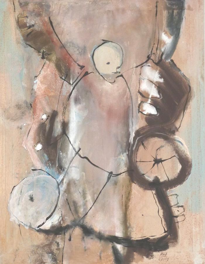 Papier Schaukel, 54x68, 2000