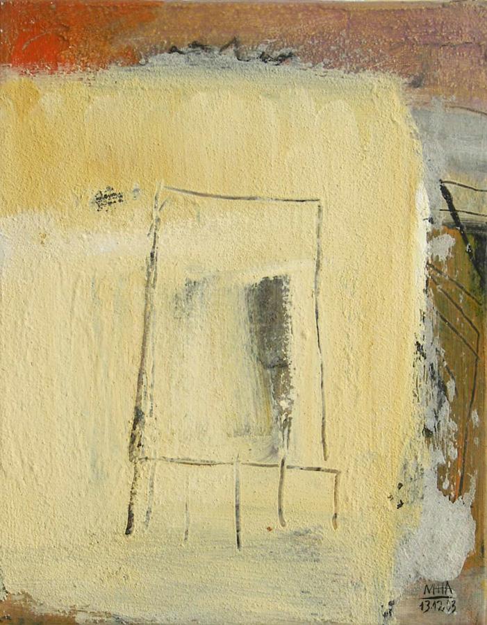 Form auf gelb, 24x30, 2003