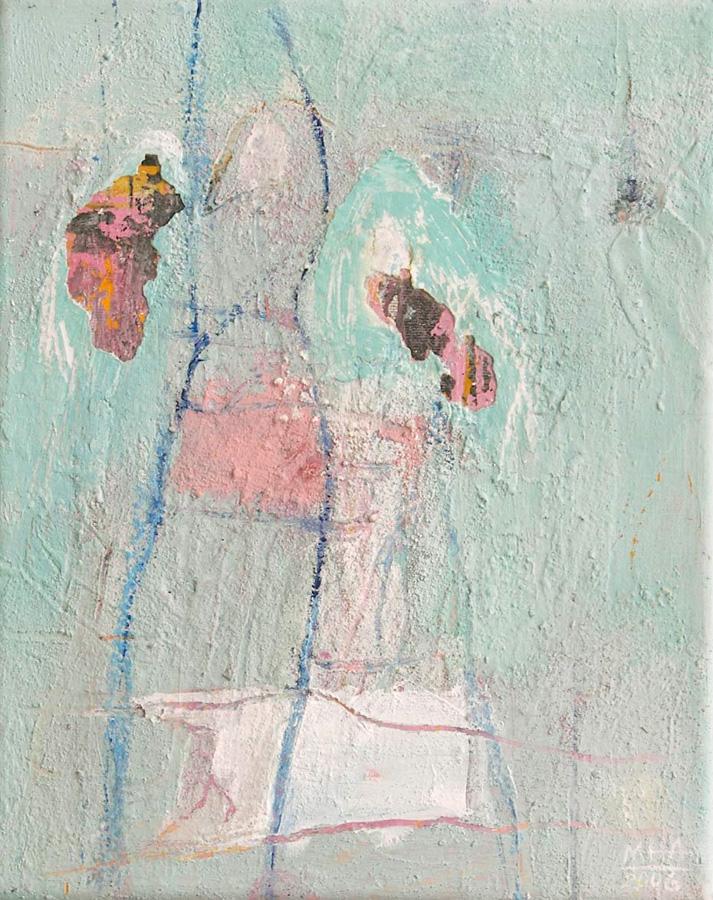 auf türkis, 24x30, 2006
