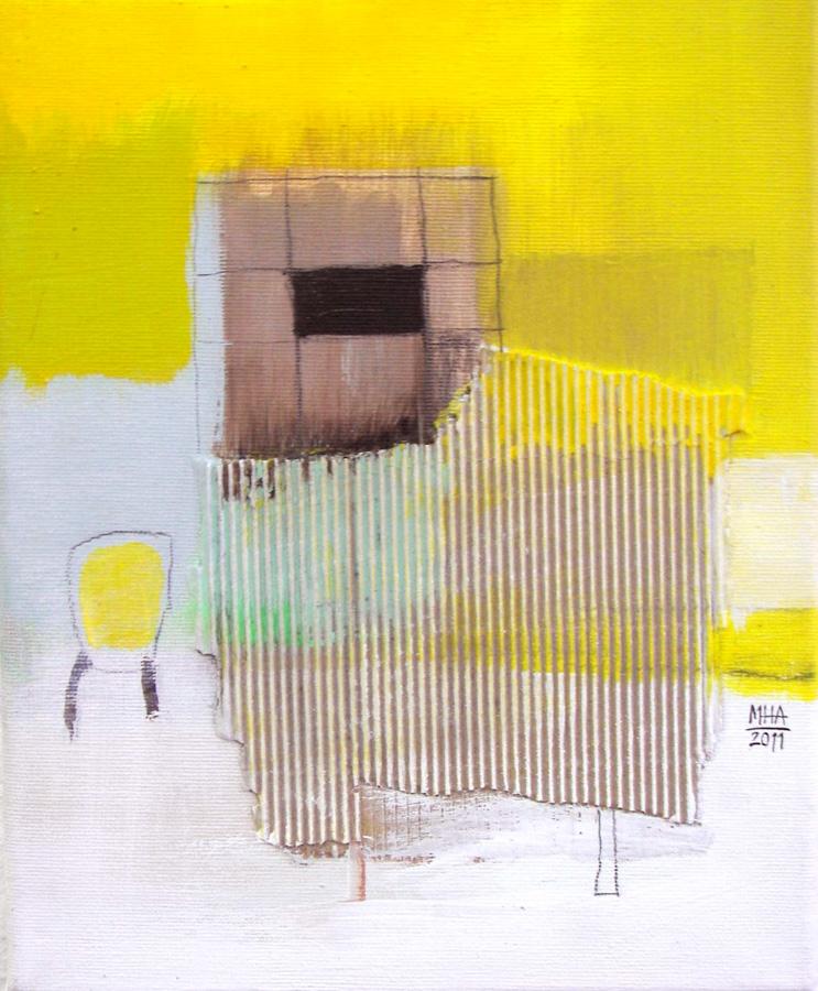 Gelbes Bild C, 24x30, 2011