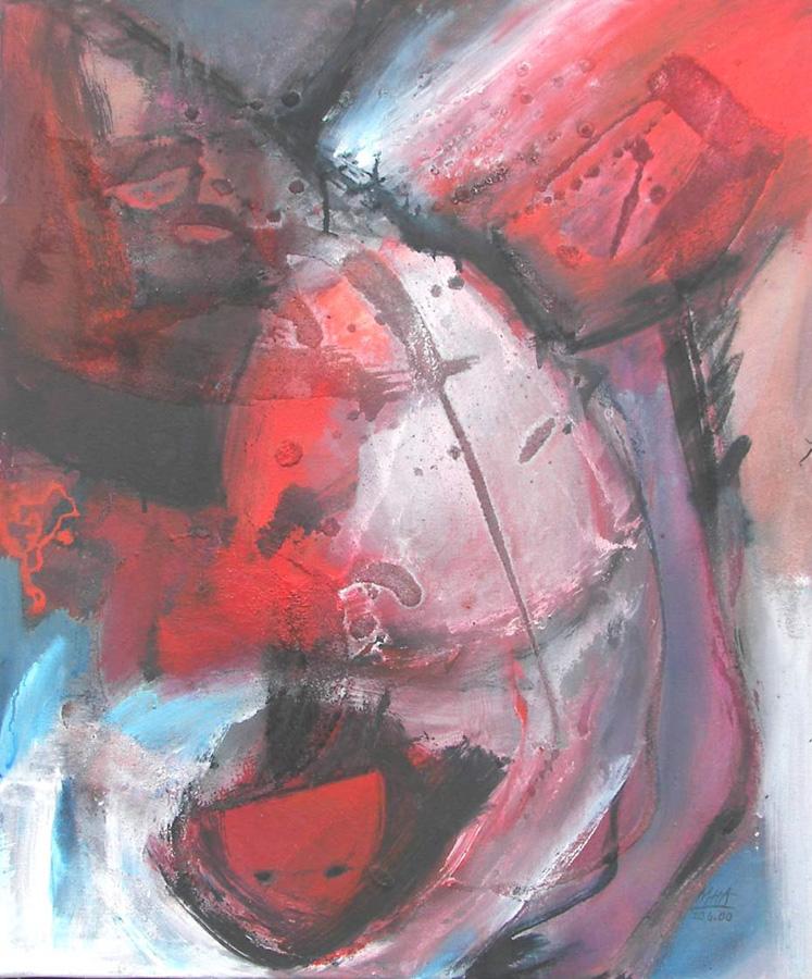 rote Zeit 2, 50x60, 2000