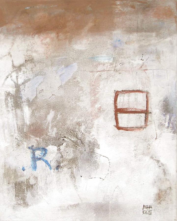 Wand, 40x50, 2003