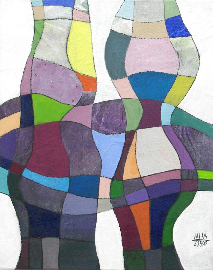 Fantasie in Linien V, 40x50, 2009